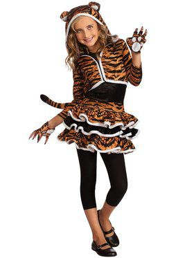 Girls Tigress Hoodie Costume