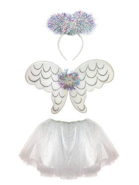 Girls Tinsel Angel Skirt Set