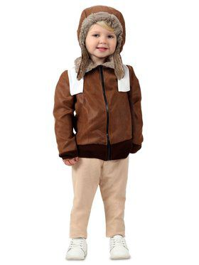 Girls Toddler Amelia the Aviator Child Costume