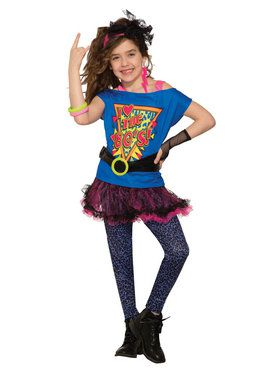 Totally 80's Costume For Girls