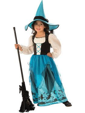 Turquoise Witch Costume for Girls