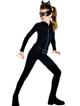 Tween Girls DC Catwoman Costume