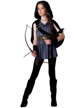 Girls Tween Hooded Huntress Costume