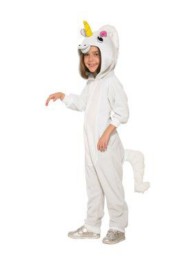 Girls Unicorn Jumpsuit Costume