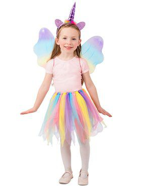 Girls Unicorn Skirt Set Costume