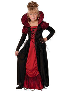 Girls Vampiress Queen Costume