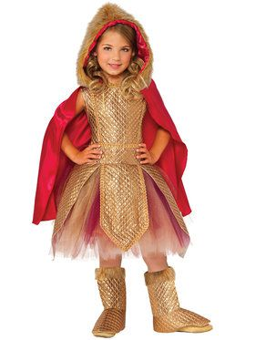 Girls Warrior Princess Costume