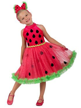 Watermelon Miss Girls Costume