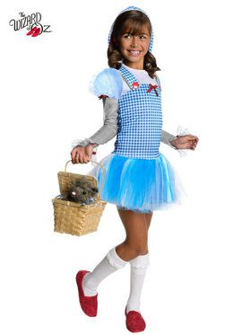 Wizard Of Oz Girls Dorothy Tutu Costume