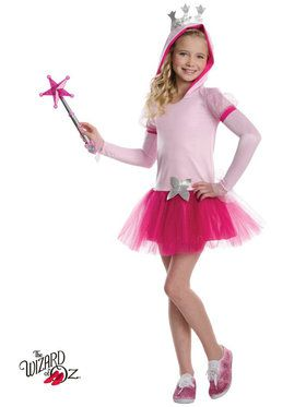 Wizard of Oz Girls Glinda Hoodie Tutu Costume