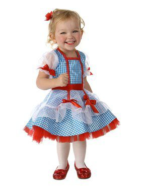 Girls Wizard of Oz Glitter Dorothy Child Costume