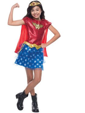 Wonder Woman Girl's Sequin Costume