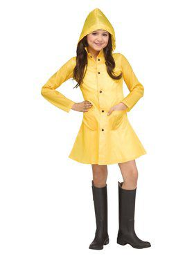 Girls Yellow Raincoat Costume