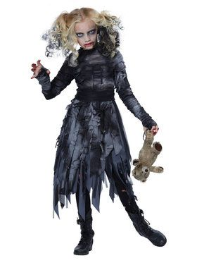 Girls Zombie Girl Costume