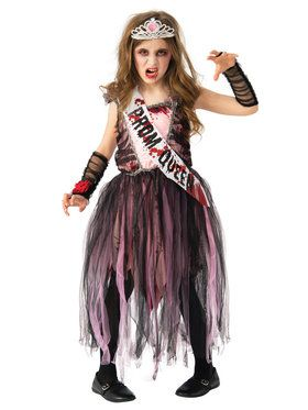 Prom Queen Zombie Girls Costume