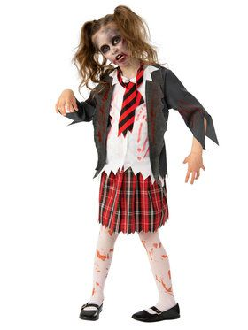 Zombie Schoolgirl Costume for Children