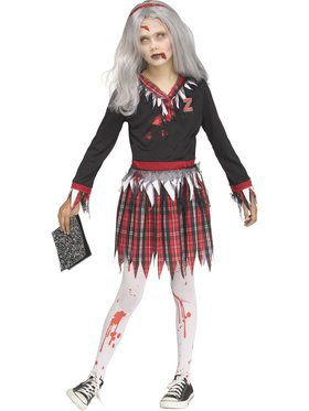 Zombie Schoolgirl Girls Costume