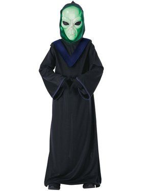 Glow in the Dark Kids Alien Commander Child Costume