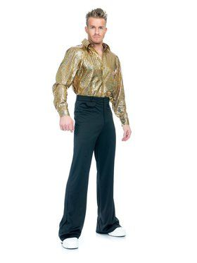 Gold Hologram Disco Dude Adult Costume
