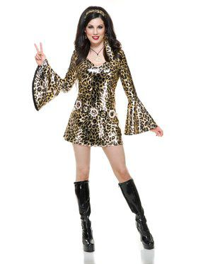 Gold Leopard Disco Diva Adult Costume