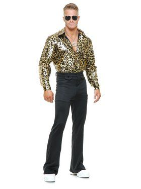 Gold Leopard Disco Shirt