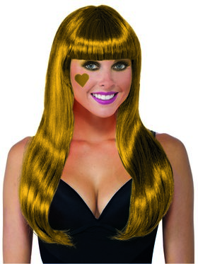 Long Gold Wig