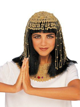 Gold Mesh Cleopatra Headpiece for Women