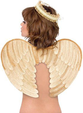 Angel Halo and Wings Gold Velvet Accessory Kit