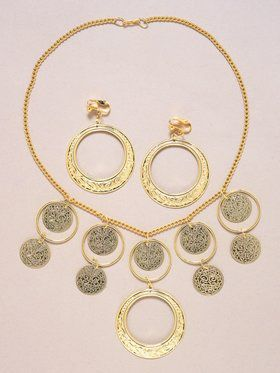 Goldstone Necklace And Earrings