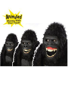Adult Goin Ape Gorilla Ani-motion Mask