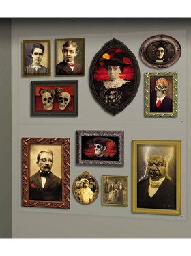 Gothic Mansion Portraits Wall Decorations