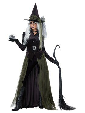 Womens Gothic Witch Costume