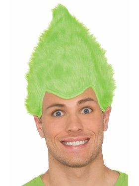 Green Adult Fuzzy Wig