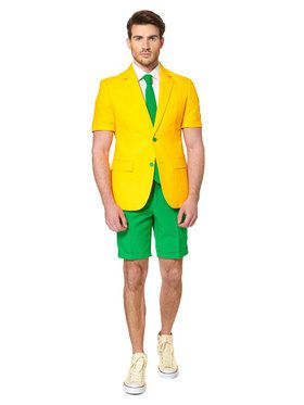 Green and Gold Opposuits Summer Suit Adult Costume