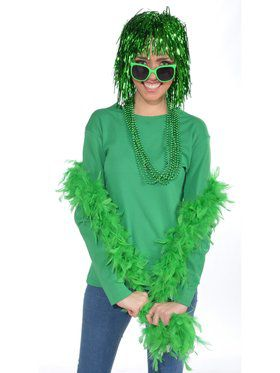 Women's Green Feather Boa