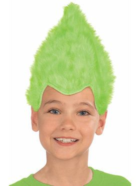 Green Child Fuzzy Wig
