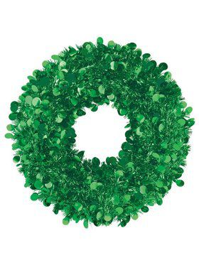 Green Tinsel Wreath