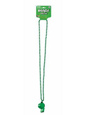 Green Whistle w/ Beaded Necklace