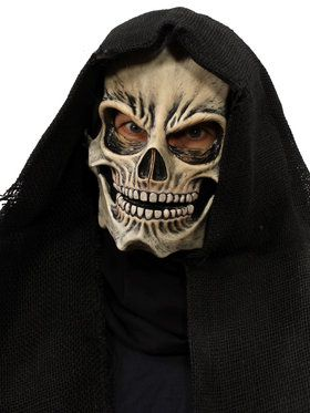 Grim Skull Overhead Moving Mouth Mask One Size