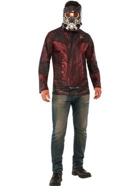 Guardians of the Galaxy Vol. 2 - Star-Lord Adult Costume Top Mask Set