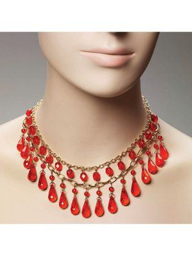 Gypsy Red Ball Necklace