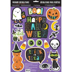 Hallo-ween Friends Window Cling Decorations