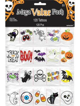 Halloween Tattoos (120 Count)