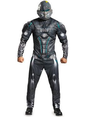 Halo Spartan Locke Men's Muscle Costume