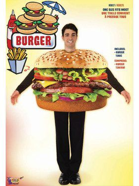 Hamburger - Standard Adult Costume