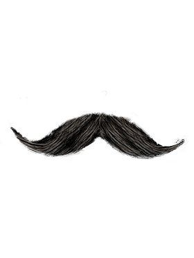 Handlebar Moustache - Black