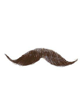 Handlebar Moustache - Medium Brown