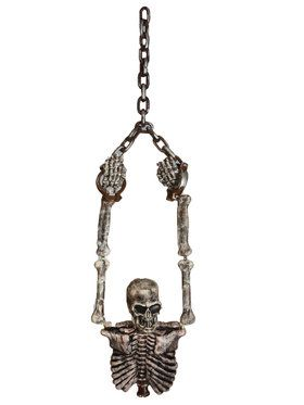 Hanging Skeleton Torso & Chains