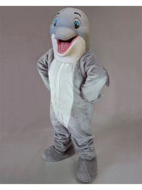 Adult Happy Dolphin Mascot Costume