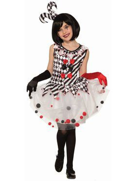 Womens Circus Red Polka Dot Clown Kit DOES NOT INCLUDE TUTU